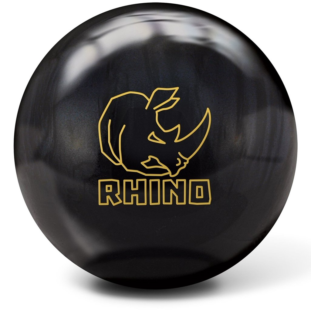 Brunswick Rhino Reactive pre-drilled Bowling ball-ブラック/パール  11lbs
