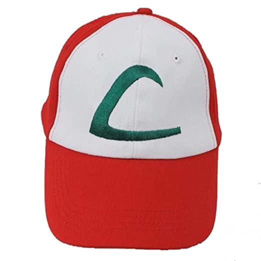 e5ce344b83e Amazon.com  Pokemon Ash Ketchum Baseball Snapback Cap Trainer Hat for Adult  Embroidered