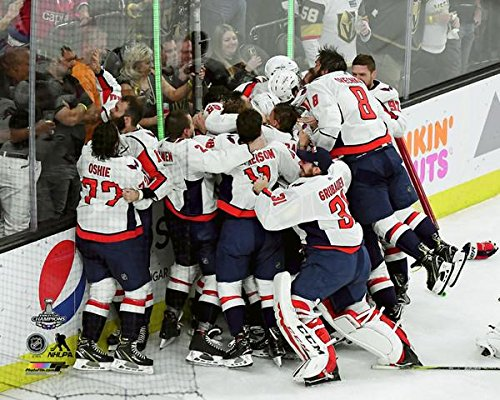 (Washington Capitals 2018 Stanley Cup Campions, Braden Holtby & Alex Ovechkin On The Boards Celebration 8x10 Photo Picture (boards) )