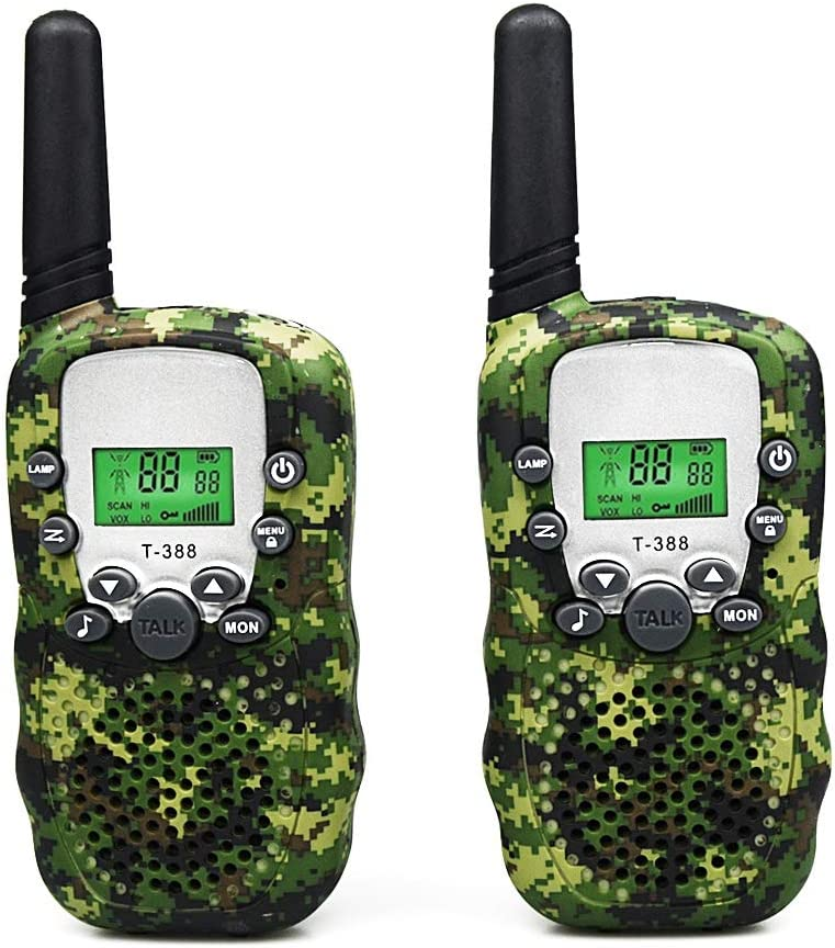 1 Pair Joyfun Walkie Talkies for Kids T-388 Long Distance 2 Way with Flashlight Outdoor Camping /& Hiking Gear