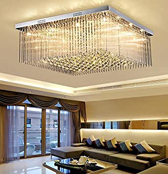 WR K9 LED lighting ceiling lamp crystal lamp living room lamp bedroom lamp Variety of sizes. (100cm x 100cm x 30cm)