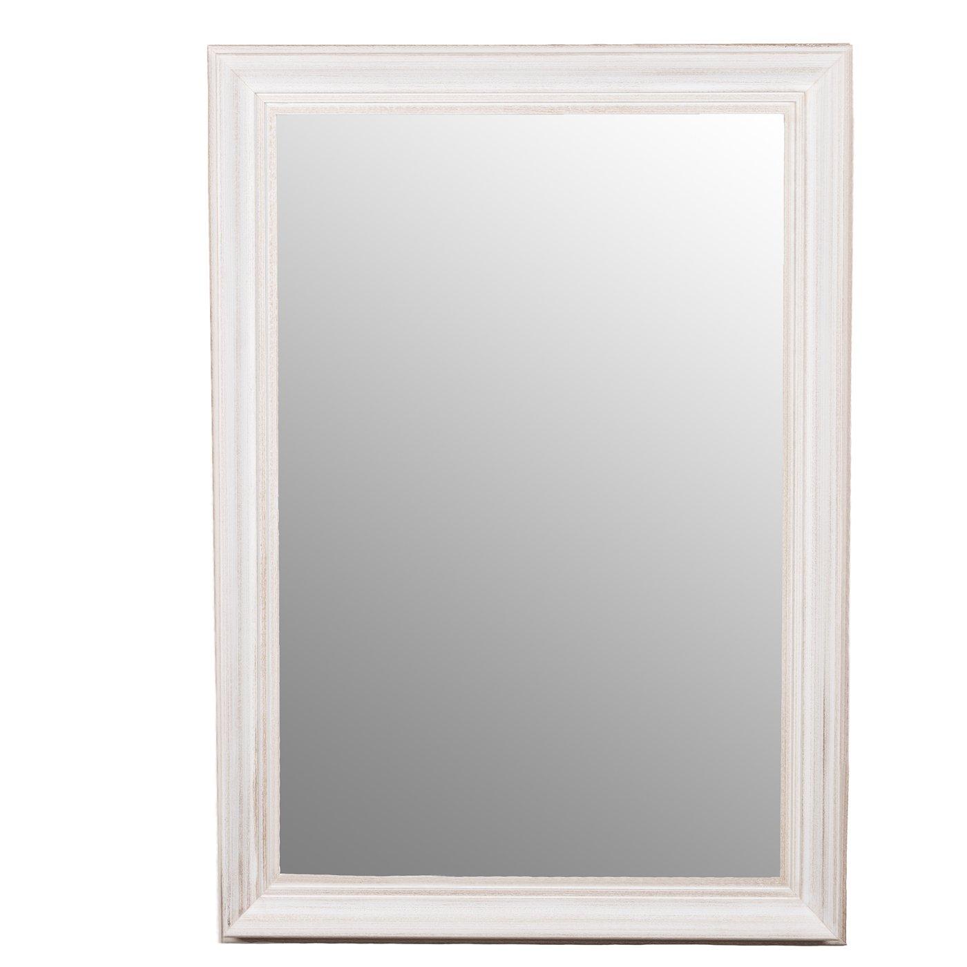 Belssia Wasch Spiegel, Holz, Weiß, 75 x 3.5 x 105 cm