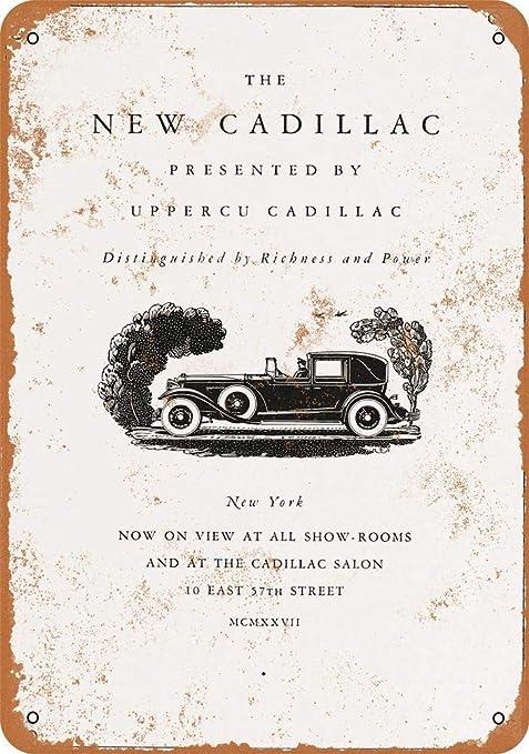 Shunry New Cadillac Placa Cartel Vintage Estaño Signo Metal ...