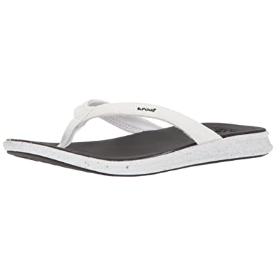 Reef Womens Sandals Rover Catch Pop   Vegan Leather Flip Flops For Women With Soft Cushion Footbed   Waterproof   Flip-Flops