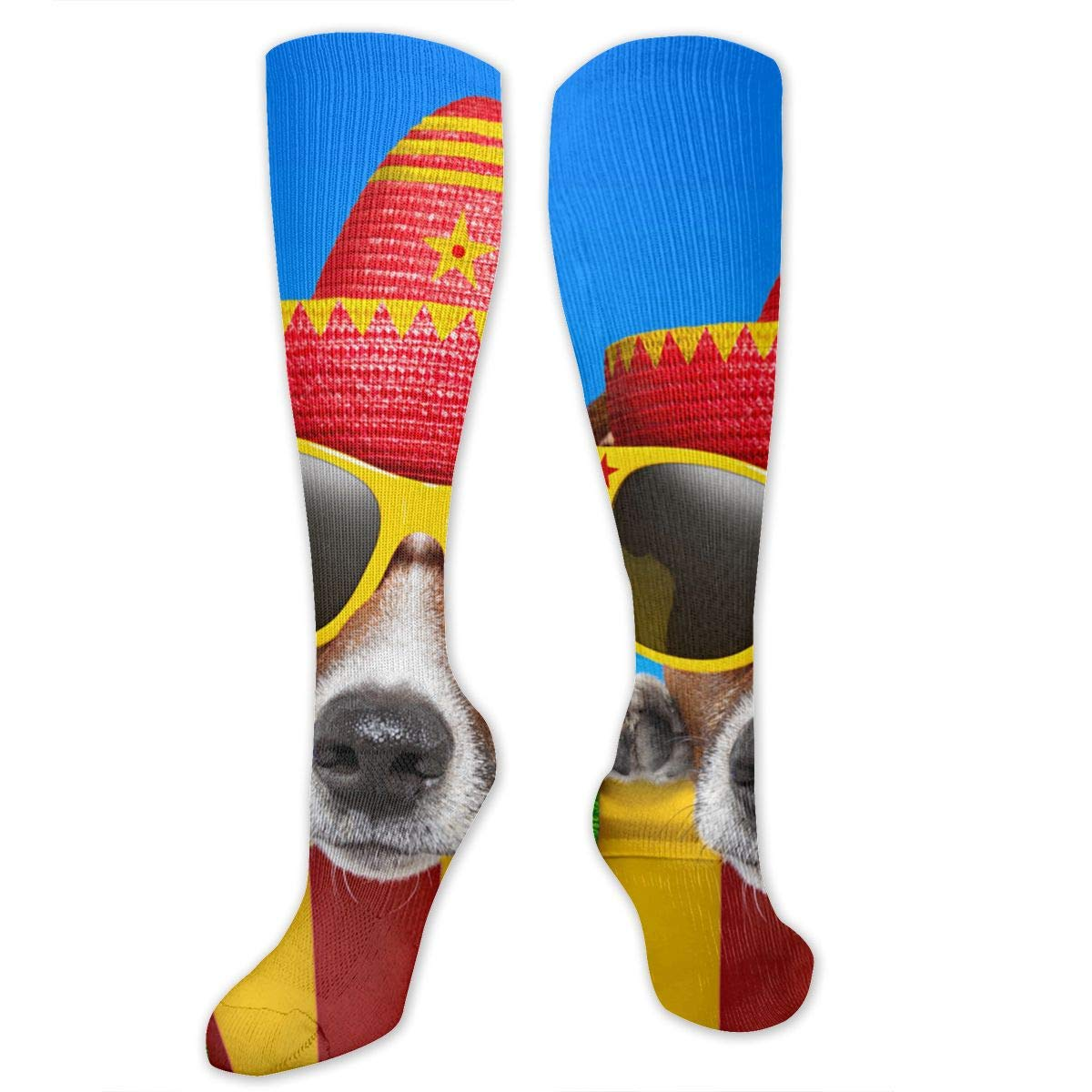 Chanwazibibiliu Dogs Colored Background Mens Colorful Dress Socks Funky Men Multicolored Pattern Fashionable Fun Crew Cotton Socks