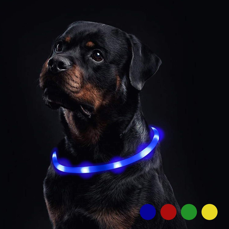 Toozey Luminoso Collares para Perro LED Durante 20 Horas de Luz ...