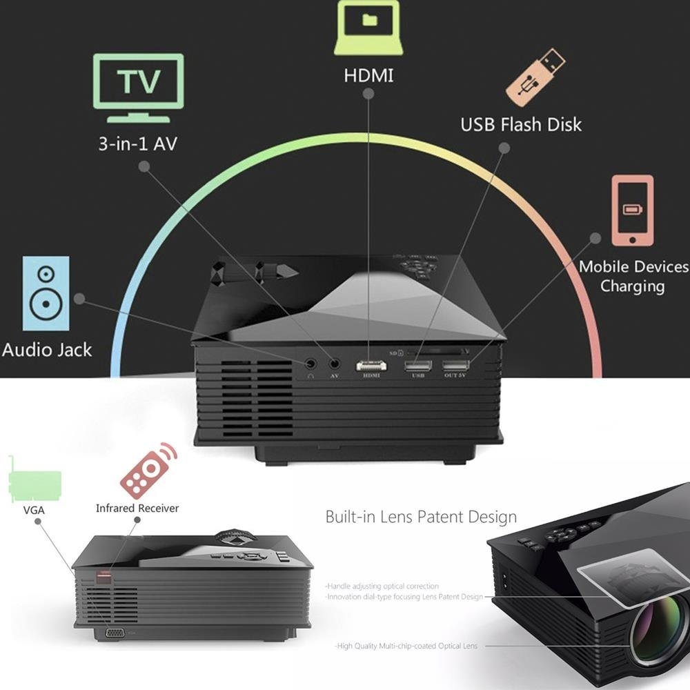 Flylinktech Proyectores de 1200 Lúmenes WiFi Proyector LED para el ...