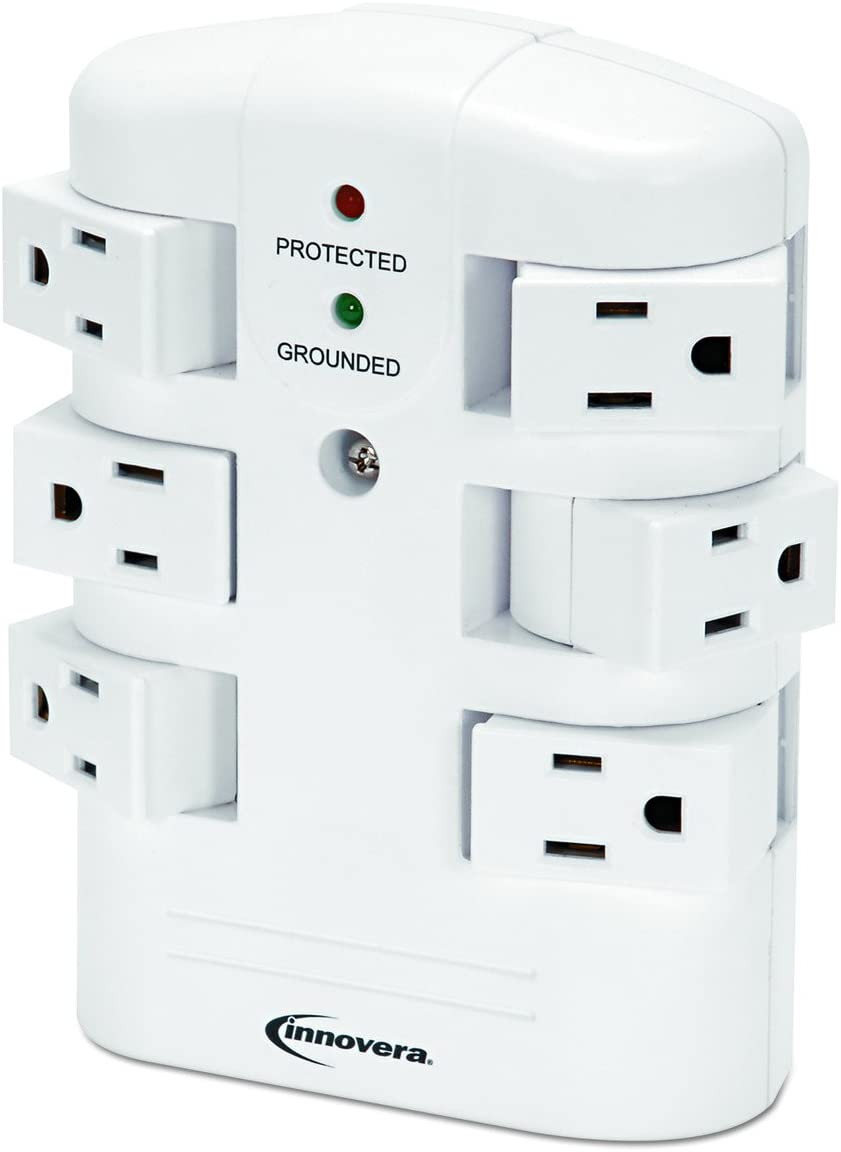 Innovera Wall Mount Surge Protector, 6-Outlets 71651
