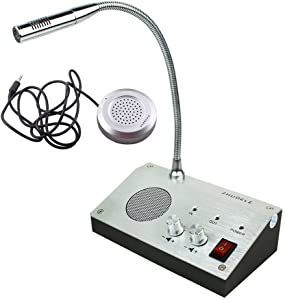 TOPCHANCES 110V ZDL-9908 Dual-Way Audio Bank Office Store Station Dual Way Window Counter Intercom Interphone Speaker
