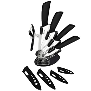 Leberna 5-Piece White Blade Ceramic Knife