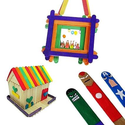 SE Colorful Wood Popsicle Sticks, Craft Sticks, Ice Cream Sticks ...
