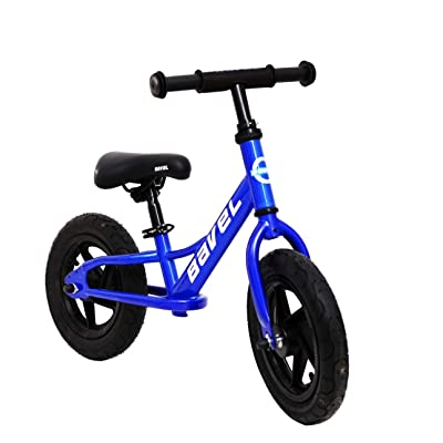 "Bavel - Balance Bike 12-Inch, Ages 18 Months to 4 Years (Blue, 12""): Sports & Outdoors"