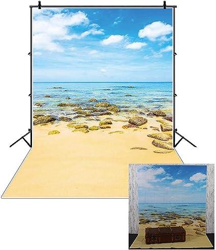 Cassisy 2x3m Vinyl Meer Fotohintergrund Tropisch Kamera