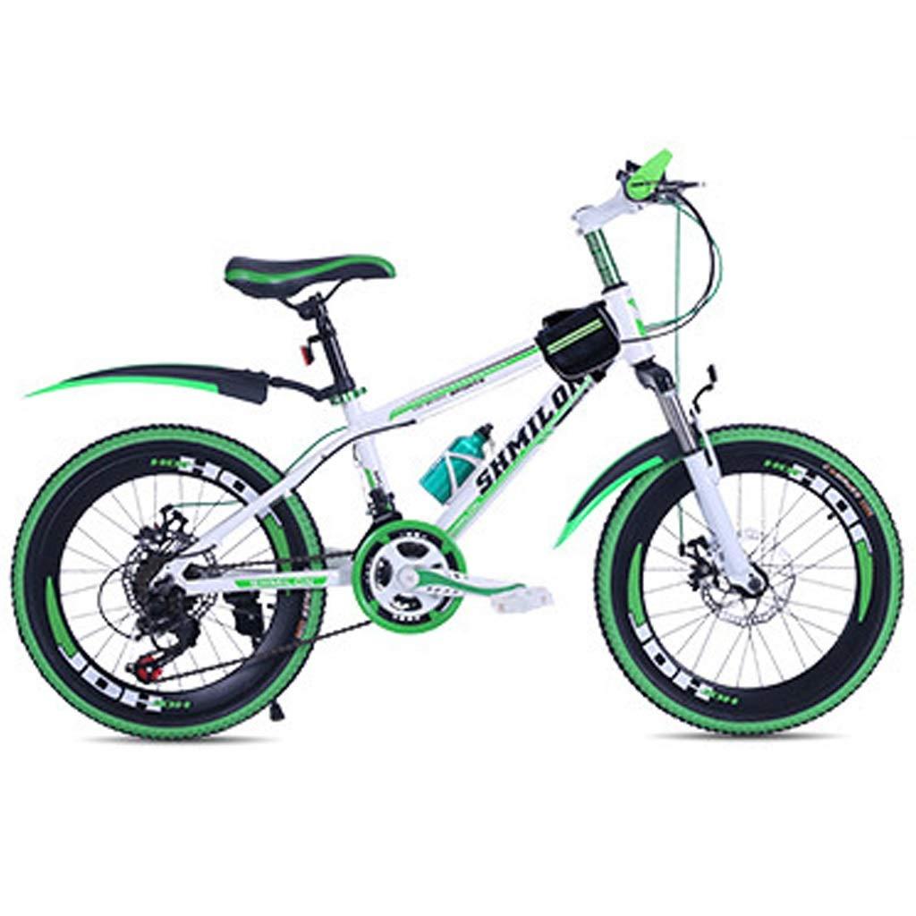 男の子の女の子自転車 学生ロードバイク 大人の旅行用自転車 アウトドアスポーツ用自転車 20インチ/ 22インチ可変速自転車 春夏登山用自転車 (Color : Green, Size : 20inch) 20inch Green B07RM54SH5