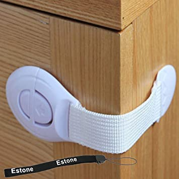 f9c9637b842a8 Amazon.com   Estone® Baby Kids Child Toddler Safety Door Lock Fridge Drawer  Toilet Cupboard Cabinet (5pcs)   Baby