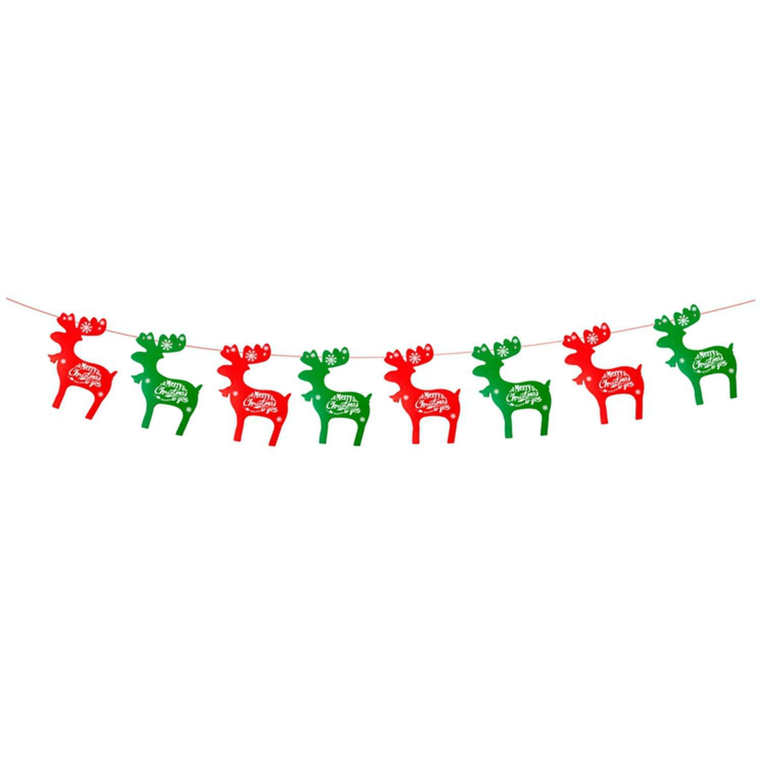 Noon-Sunshine decorative-plaques Merry Christmas Bannerar Christmas Decorations for Home Xmas Party Santa Claus Bell Flag Garlands,Christmas Banner 4