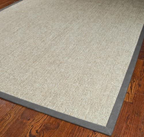Natural Fiber Marble Light Gray Rug Rug Size 3 x 5