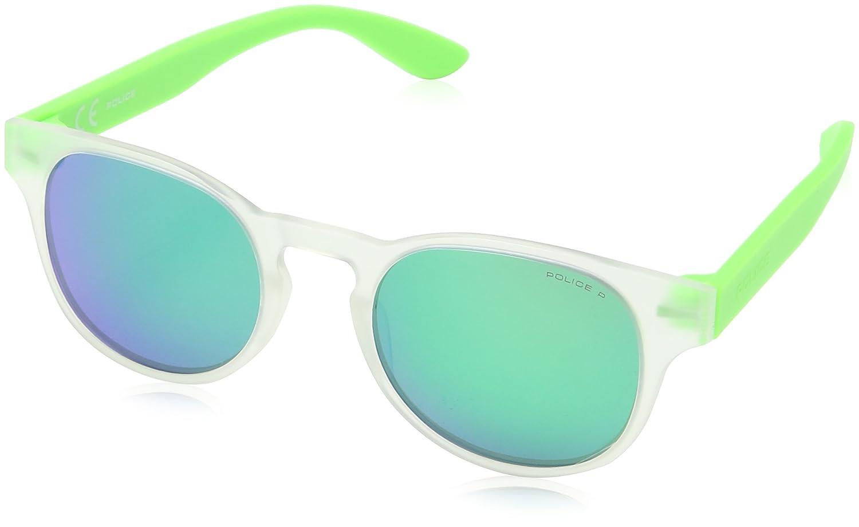 Police Jungen Sonnenbrille SK040, Gelb (Semi Matt Transp.Green), Einheitsgröße