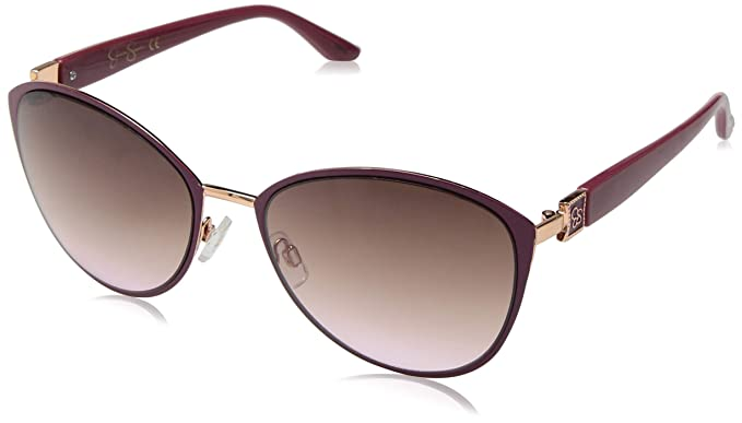 bcfc4cca72226 Image Unavailable. Image not available for. Colour  Jessica Simpson Women s  J5329 Rgdpk Non-Polarized Iridium Cateye Sunglasses Rose ...