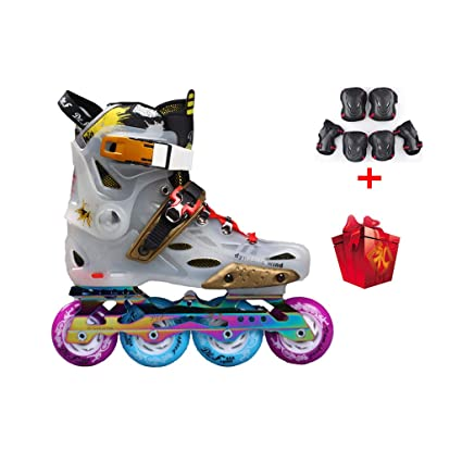 ailj Inline Skates, Single Row Skates Adult Men Women Set Roller Skates Professional Roller Shoes