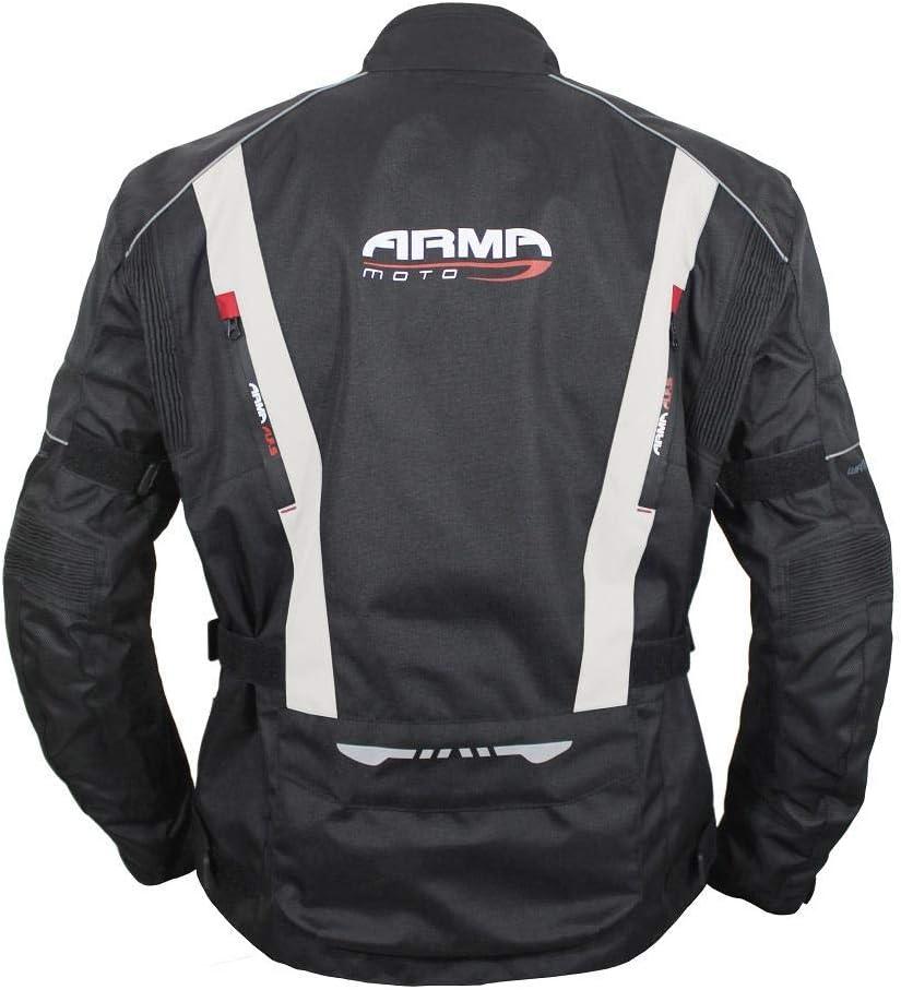 Black ARMR Kiso 3 Waterproof Textile Motorcycle Jacket