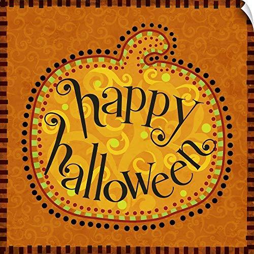- CANVAS ON DEMAND Calico Pumpkin Halloween Wall Peel Art Print, 20