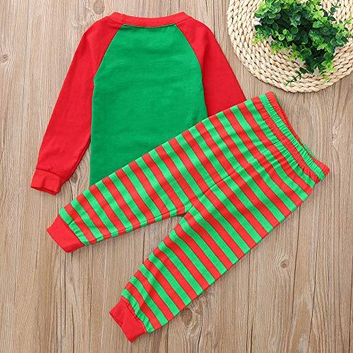 Abbigliamento Verde Natale Pantaloni Accessori Angelof lunghe Pupazzo Maniche Costume natalizi strisce Stampato neve Regalo invernale ragazza di a di HqTg6Zxq