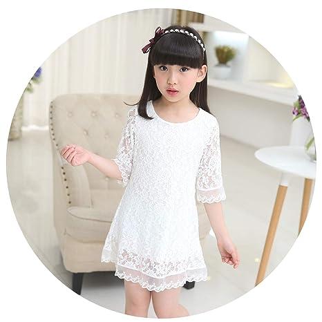 Amazoncom Kids 2018 Summer Autumn Lace Dress White Large