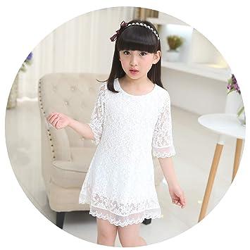 830e245c46ebd Kids 2018 Summer Autumn Lace Dress White Large Size Girls Dress ...