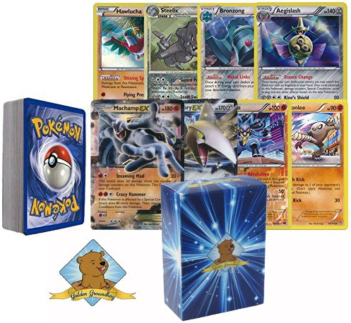 Golden Groundhog All Steel And Fighting Type Pokemon 40 Assorted Cards Pack with 2 Random Pokemon Ex Cards and 3 Custom Golden Groundhog Token (Pokemon Ex Golden Cards)