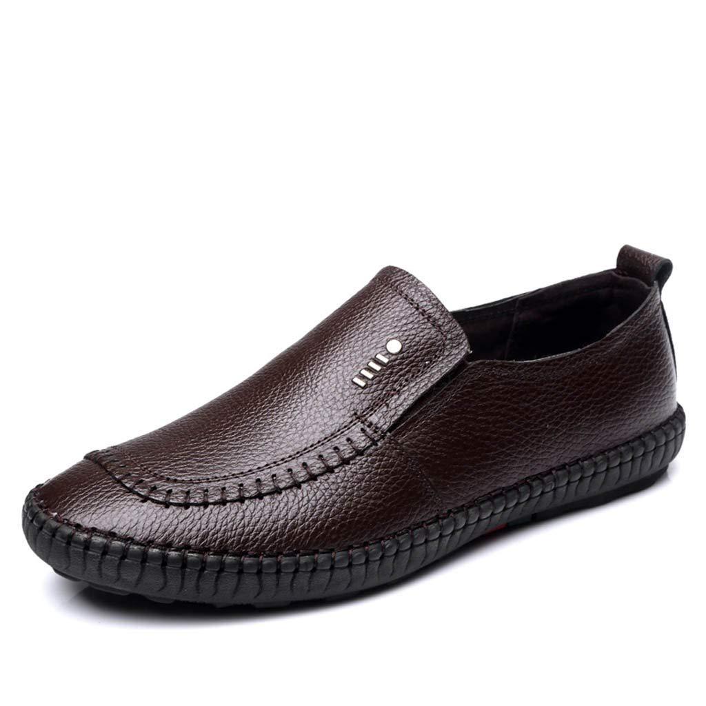 ESAILQ -Zapato N/áutico de Piel para Hombre Mocasines Cuero Mocasines Piel Hombre Zapatos N/áuticos Ligeros