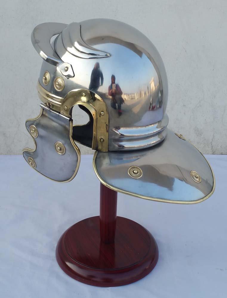 with device THORINSTRUMENTS Roman Centurion Trooper Armour Helmet Roman Medieval Replica