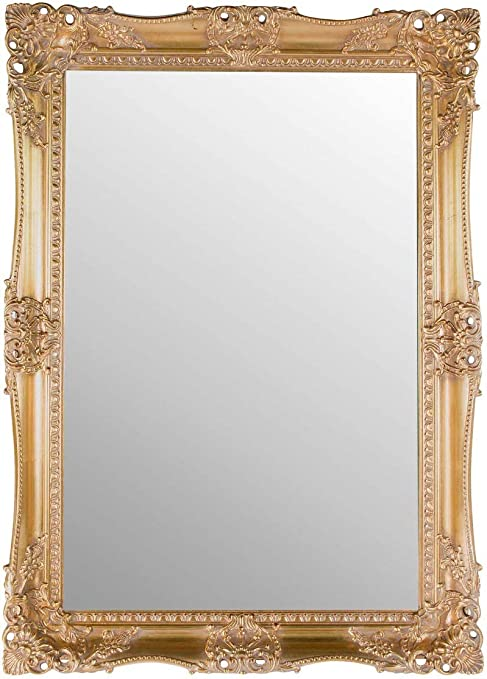 Very Ornate Gold Mirror Large Classic Frame Antique Design Ornate Shabby Chic Over Mantle 3ft7 X 2ft7 Amazon Co Uk Kitchen Home