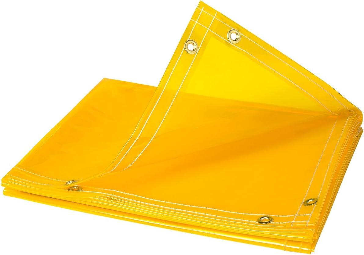Steiner 334-6X8 Arcview 14 Mil Flame Retardant Tinted Transparent Vinyl Curtain Roll, Yellow, 6' x 8'