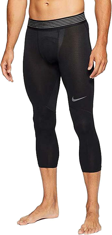 Amazon.com: Nike Pro Hypercool AT3645 010 - Mallas 3/4 para ...