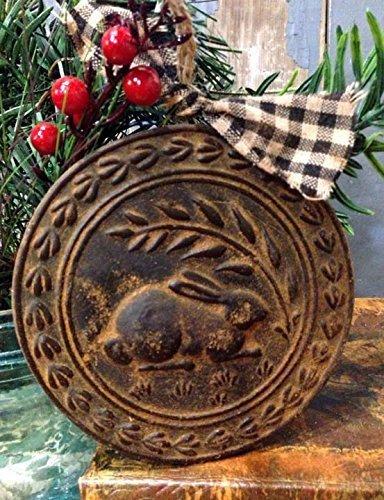 Blackened Beeswax American Folk Art Rabbit Cinnamon Scented with Saigon Cinnamon Rub