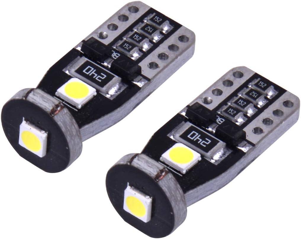 beler 1 Pair Left /& Right Turn Signal Side Marker Light Lamp With T10 LED Bulb