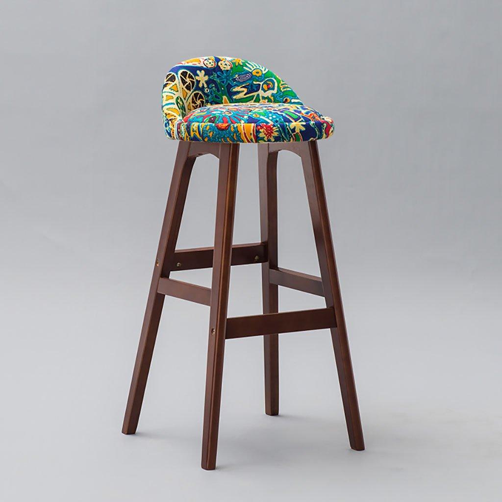 バーツ マルチカラーオプションのモダンな木製のバーカウンタースツール、サイズ:41 * 42 * 85.5cm バースツール (色 : A, サイズ さいず : 41*42*85.5cm) B07BS4L1RNA 41*42*85.5cm