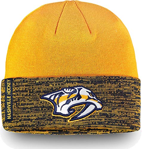 29fa155f8 Nashville Predators Cuffed Knit Hats. Football Fanatics NHL Men s Nashville  Predators Authentic Pro Rinkside ...