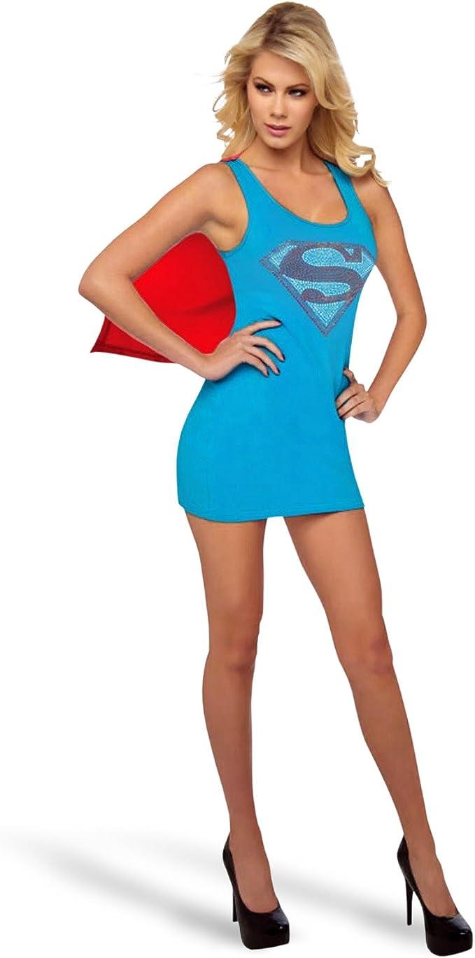 Supergirl Traje Damas Licencia Mini Vestido con Capa extraíble y ...