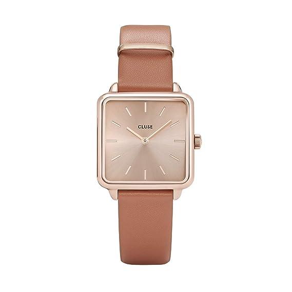 Amazon.com: Reloj de pulsera para mujer de la Garçonne, oro ...