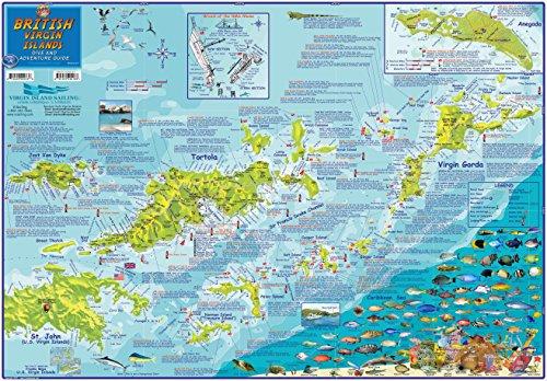 UPC 819420001326, British Virgin Islands BVI Dive Map Laminated Poster By Franko Maps