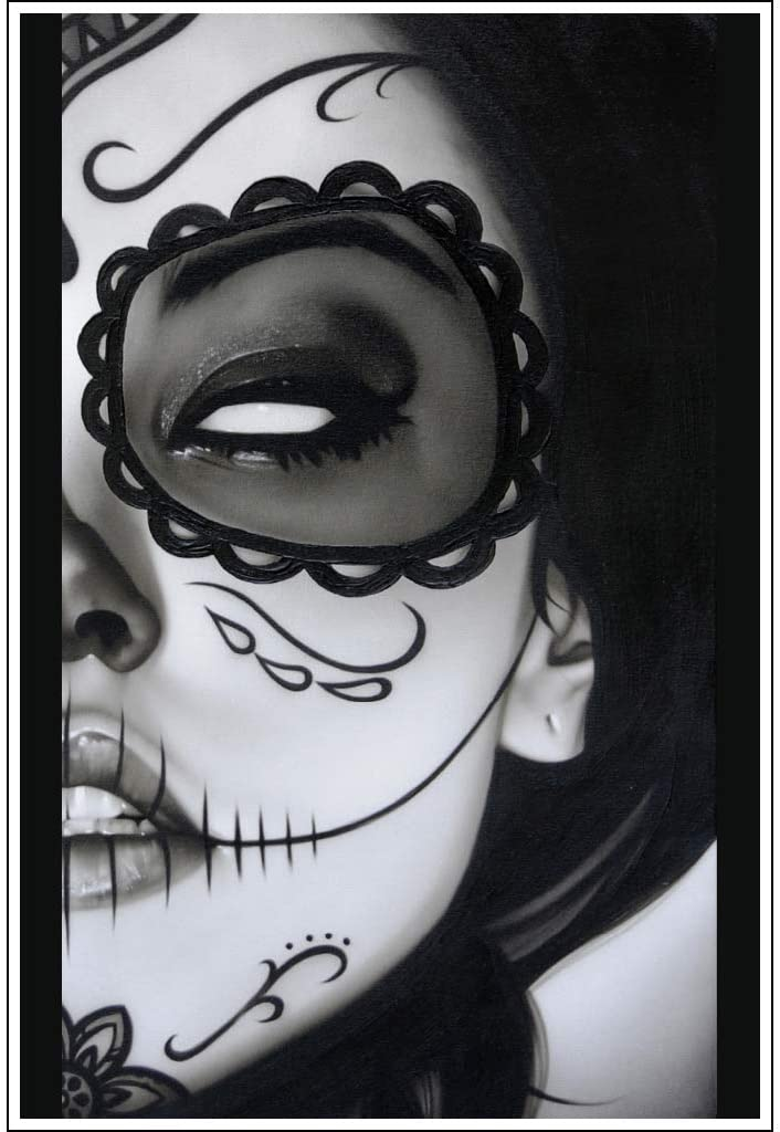 Sophia la Muerta by Daniel Esparza Mexican Pin-up Girl Gothic Tattoo Art Print