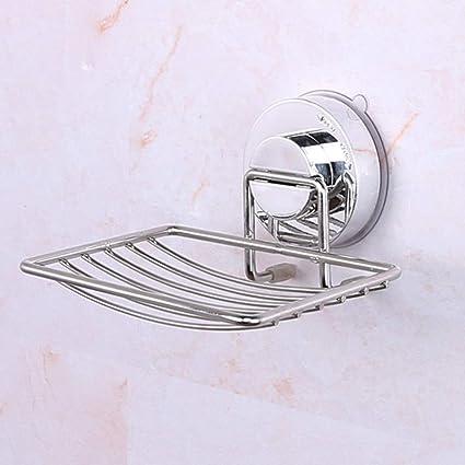 Amazon.com: Jabonera de acero inoxidable con ventosa para ...