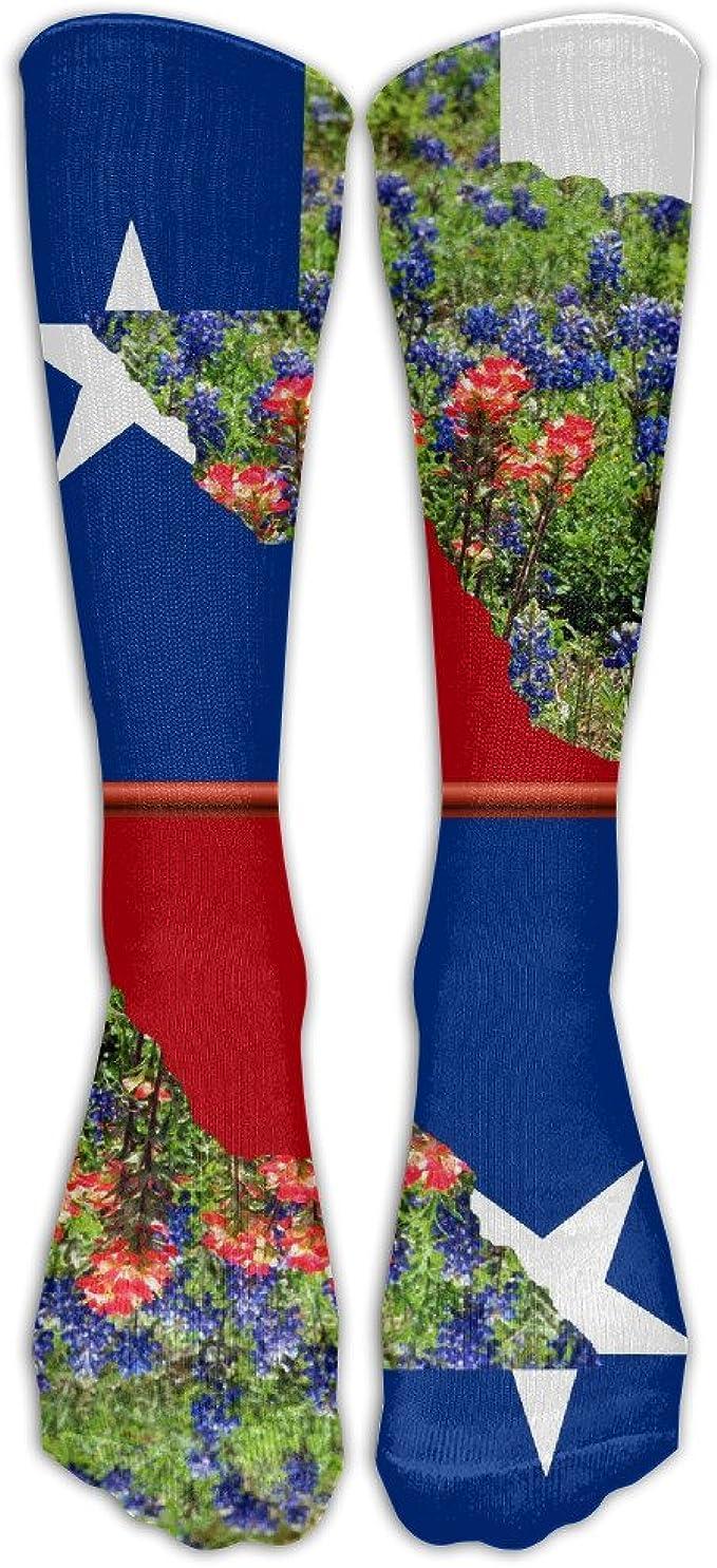 USA Flag War Bullet Hole Fashion Athletic Socks Knee High Socks For Men/&Women All Sport Holiday One Size Shoe Size 6-10
