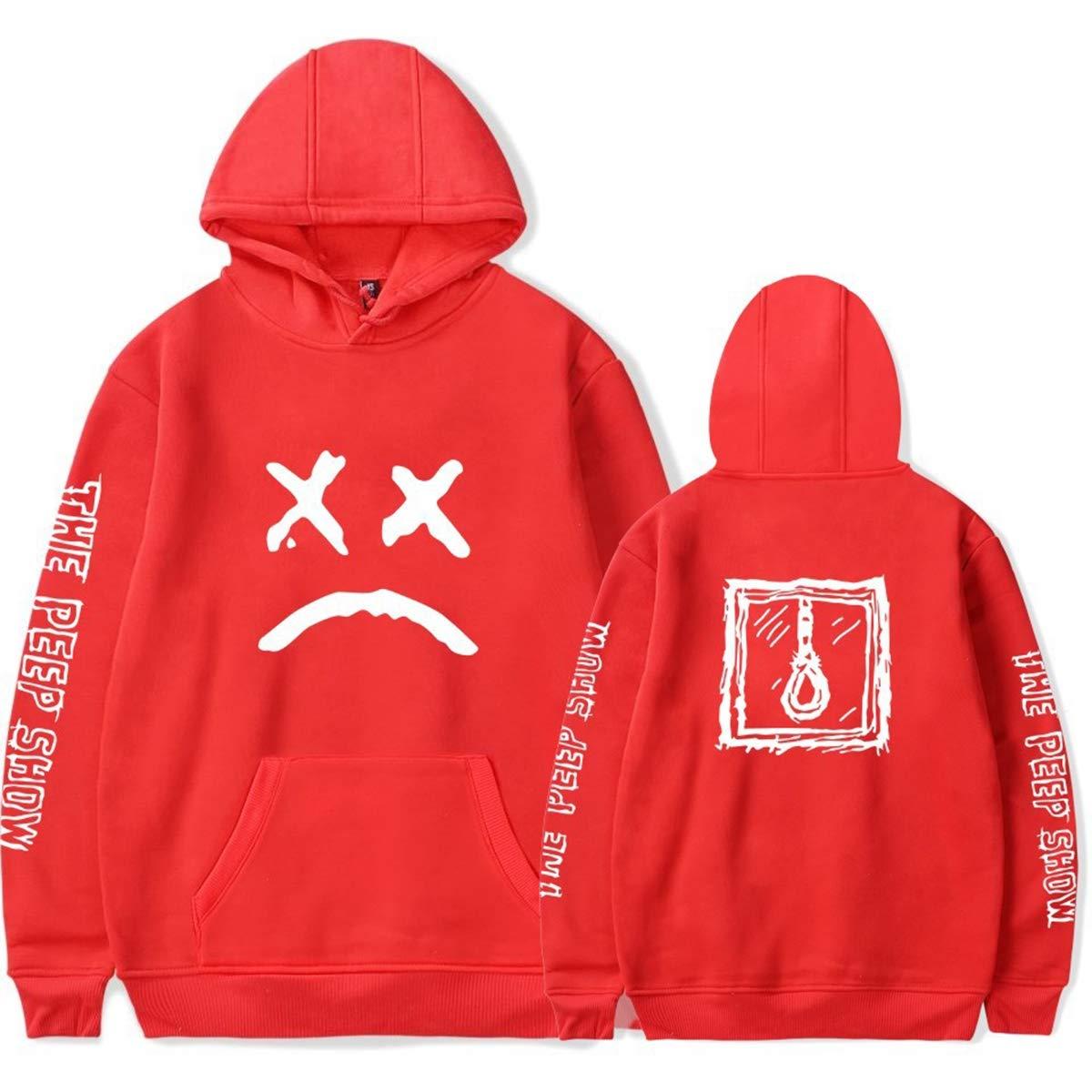 Imzoeyff Der Hoodie der Art- und Weisemänner beiläufiger Jumper Lil Peep Rapper-Hip-Hop-Entwurfs-mit Kapuze Pullover