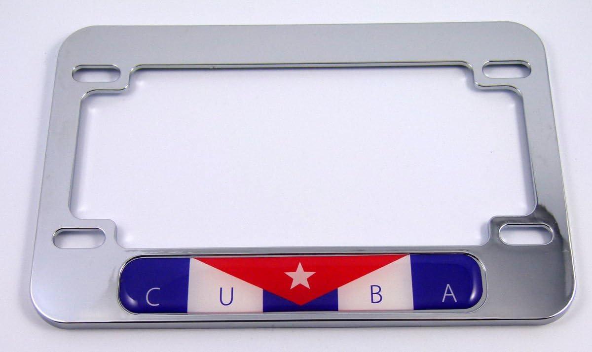 Cuba Cubana bandera motocicleta bicicleta ABS cromado licencia ...