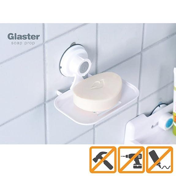 Amazon.com: Glaster Soap Dish Holder. Mount on Bathroom Shower ...
