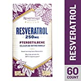 Reserveage - Resveratrol 250mg with Pterostilbene, Antioxidant Support for Youthful Skin and Balanced Cholesterol Levels with Quercetin and Organic Red Grapes, Gluten Free, Vegan, 60 Capsules