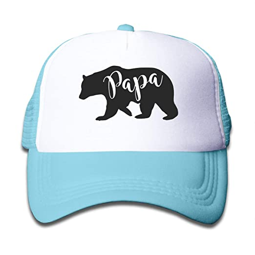 5004acc56 Amazon.com: Mama PaPa Bear Mesh Baseball Cap Adjustable Trucker Hat ...